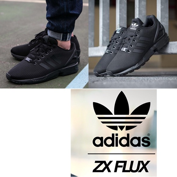 watch ef863 2864e Adidas ZX Flux Mens 7.5 Women's 8.5 black on black